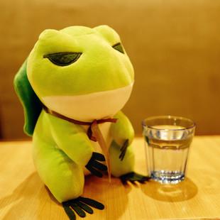 旅行青蛙周边抱枕蛙儿子崽崽毛绒玩具公仔布娃娃玩偶情人节礼物
