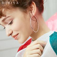 韩国潮人新款时尚圆圈耳环夸张简约大气个性百搭气质耳坠耳饰女