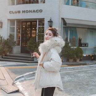 棉服女短款韩版工装外套2018新款收腰棉衣小众设计感小清新棉袄冬
