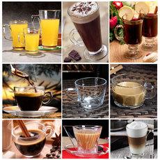透明玻璃咖啡杯带把套装 拿铁咖啡杯子爱尔兰加厚耐热布丁杯摩卡