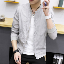 Summer New Men's Sunscreen Clothes 2009 Korean Edition Slim Jacket Student White Coat Thin Blouse Trend