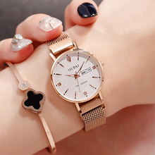 European Watch Girl Student Korean Version Cherry Blossom Girl Waterproof Fashion 2018 New Quartz Watch Lady