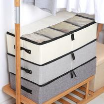 鞋子收纳盒整理箱透明鞋盒省空间宿舍装球鞋靴子神器鞋柜单个家用