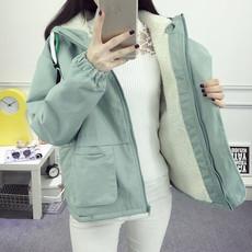 冬季外套女韩版学生2017新款原宿风宽松加厚羊羔毛BF百搭短款棉衣