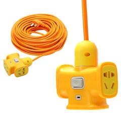 加长电源延长线电动车充电插座带开关接线板插线板10 15 20米排插