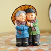 创意老人情景摆件家居装饰品电视柜工艺品小摆设结婚礼物婚房布置