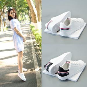 小白鞋春季女鞋2017新款百搭韩版学生休闲运动鞋夏季时尚透气白鞋运动鞋