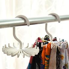 挂围巾的架子圈圈 360度可旋转20爪多用领带架 皮带丝巾收纳挂架