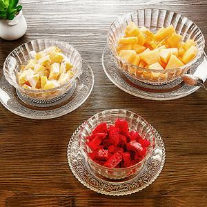 创意玻璃碗<span class=H>水果</span><span class=H>碟</span>子餐具透明碗盘米饭甜品西瓜<span class=H>沙拉</span>碗家用碗<span class=H>碟</span>套装
