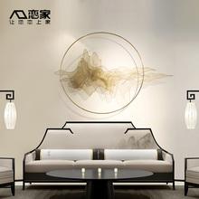 中式金属壁挂客厅卧室墙壁墙面装饰品挂件创意假山水家居玄关壁饰