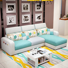 布艺沙发组合可拆洗 简约现代北欧宜家小户型客厅转角三人布沙发