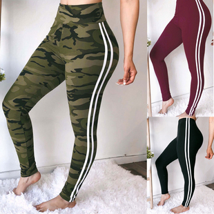 Women autumn leggings slim trousers plus size sports  pants