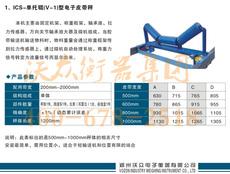单托辊电子皮带秤 沃众皮带秤厂订制 ISC-V1系列流动称重