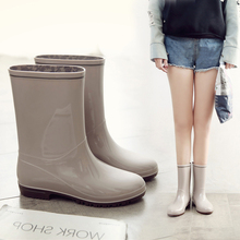 云钻日式时尚雨鞋女中筒水鞋防滑胶鞋防水女雨靴子套鞋水靴雨靴