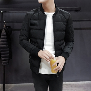 男士棉服2017新款冬季帅气百搭男生短款外套韩版潮流个性修身棉衣