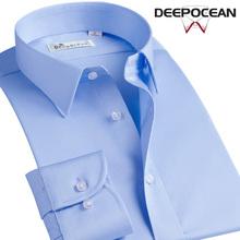 商务休闲秋季 衬衫 衬衣纯棉丝光棉免烫男式中年爸爸正装 男士 男长袖