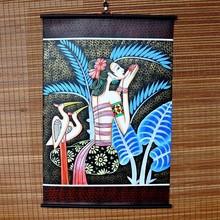 饰品 云南丽江少数民族风商品特色手工艺品蜡染画布艺壁挂画客厅装
