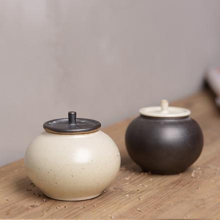 陶溪川新品景德镇禅意陶瓷茶叶罐储物罐日式柿饼小茶仓