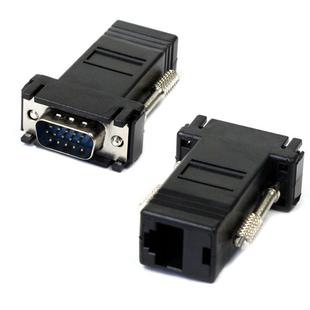 Mecall New VGA Extender Male To Lan Cat5 Cat5e RJ45 Ethernet