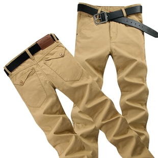 Casual Mens Chinos Cotton Trousers Joggers Khaki Pants 男裤
