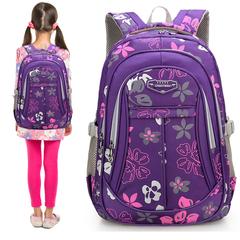 韩版轻便女孩子双肩包小学生书包1-3-4-6三四五年级女童减压背包2