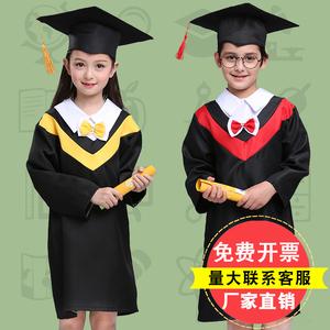 儿童博士服小学生幼儿园学士服舞蹈服毕业照演出服毕业礼服得奖服