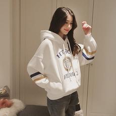卫衣2017新款女韩版套头连帽可爱软妹chic加绒加厚外套女学生学院