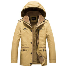 Winter Mens parkas warm Hooded Coat long jacket outwear jacket
