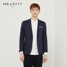 外套男修身 韩版 MECITY男装 商务休闲纯色小西装 西服
