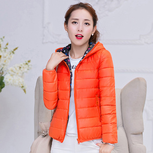 20双面棉服女短款学生韩版bf两面穿小棉外套宽松超轻薄冬休闲