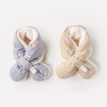 儿童围巾0-3岁宝宝围脖秋冬季婴儿围脖男童女童加绒加厚保暖围巾