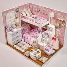 Gift Gift Gift Gift One-year-old Kid Over One Year Gift Doll House Girl Wooden Birthday Baby Room Intelligent Family
