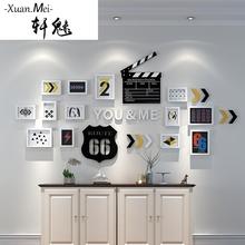 轩魅 创意家居卧室字母照片墙相框装饰画相片墙夹子导演牌挂墙