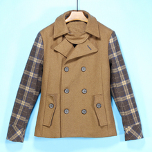 Men's jacket series winter 50% wool high quality double-breasted Lapel coat jacket 003