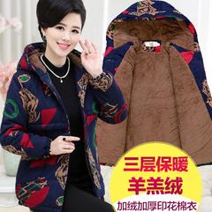 中老年人妈妈装冬装短款棉衣40岁50中年女装冬季加厚棉袄小款棉服