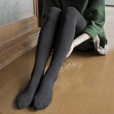 靴下物100D微压竖条纹连裤袜女春秋中厚显瘦哑光美腿袜黑色打底袜