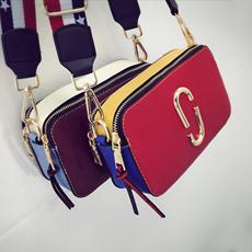 包包夏季宋佳明星同款小方包女韩版2016新款撞色亮片单肩斜挎小包