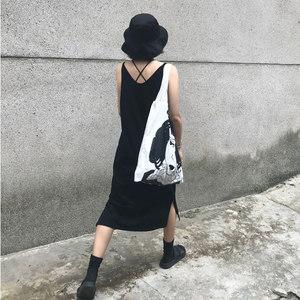 TOOTOO 黑色V领吊带裙女 打底长款连衣裙<span class=H>简约</span>长裙<span class=H>小</span><span class=H>黑裙</span>夏