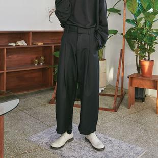韩国代购宋春江同款韩版直筒宽松高腰阔腿裤休闲西裤潮流男式裤子