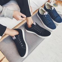 子真皮休闲滑板鞋 反绒牛皮低帮鞋 潮鞋 春季休闲鞋 韩版 复古流行男鞋
