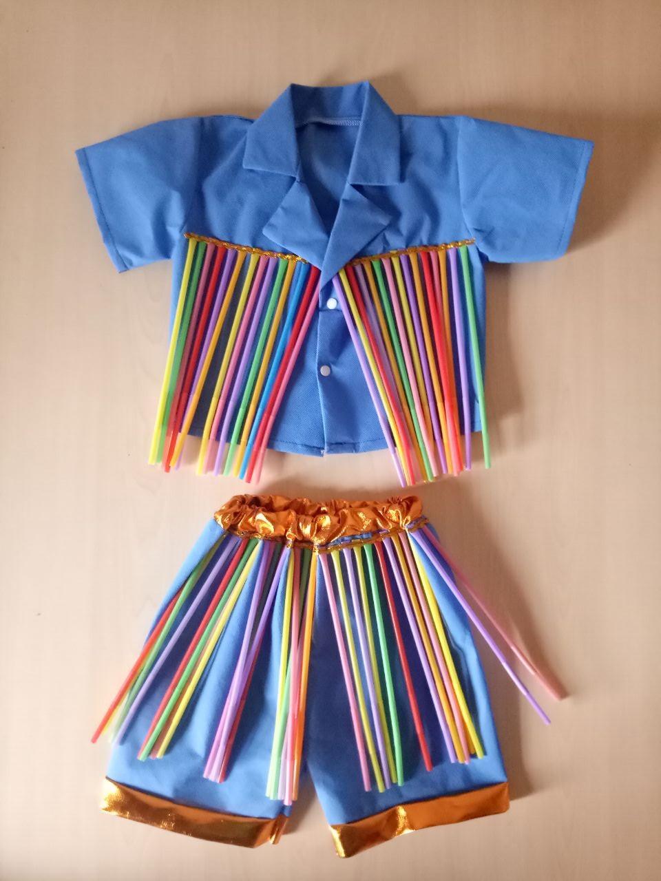手工制作服装 幼儿园手工制作服装 手工制作环保服装