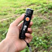 迷你手电筒小便携家用强光充电超亮led户外钥匙手灯远射小型袖