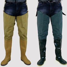 Crossing knee paddy field boots, transplanting shoes, soft sole, high cylinder, men's and women's rainshoe, rainshoe, plain paddy field socks, transplanting shoes, digging lotus root and wading water