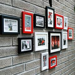 框宜家照片墙 相片墙 适合小墙面相框墙画框