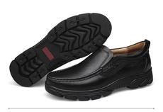 头层牛皮男士商务爸爸鞋 内增高个性时尚好看的男鞋子 英伦风格鞋