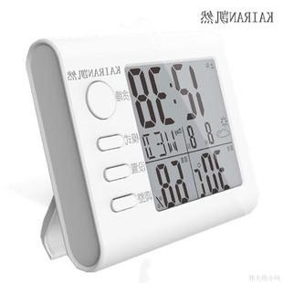 科士德 中文温度计家用湿度计室内婴儿房高精度电子温湿度计闹钟