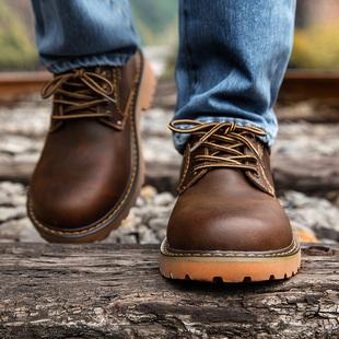 马登大头皮鞋男士真皮工装鞋英伦风男鞋休闲鞋子男皮鞋秋冬季潮鞋