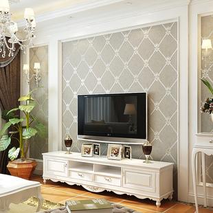 本木无纺布影视墙壁纸3d客厅欧式电视背景墙墙纸卧室简约壁纸软包