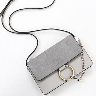黑眼袋袋包包2016新款斜挎包明星同款单肩包链条女包圆环包小包潮