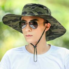 帽子男夏天迷彩渔夫帽户外休闲钓鱼帽韩版男士防晒遮阳帽太阳帽男